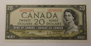 1954 Canada Twenty Dollars Banknote 3371