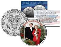 REAGAN CHRISTMAS Colorized JFK Kennedy Half Dollar U.S. Coin RONALD & NANCY
