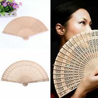 Damen duftenden Sandelholz-Handfächer aus Holz für Hochzeitsfest F0K4