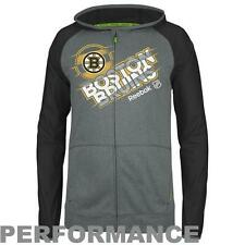 Reebok ~ Boston Bruins Center Ice Full Zip Hoodie Travel Jacket $90 NWT