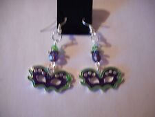 Mardi Gras mask earrings-wires
