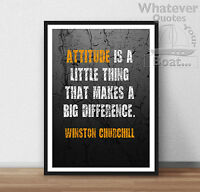 Winston Churchill Quote Poster Print Wall Art  - All Sizes + Frame +
