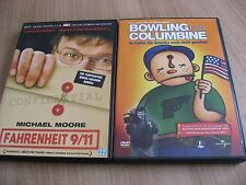 MICHAEL MOORE FAHRENHEIT 9/11 & BOWLING FOR COLUMBINE  2 DVDS