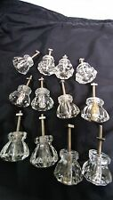 12 glass knobs for drawer or door pulls hardware-all have the screws & nuts