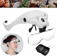 5 Lens Dentist Loupes Dental Magnifier Glass Surgical Binocular Head Led Medical