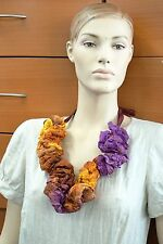 NECKLACE FELTED COLLAR MADE IN EUROPE ORGANIC WOOL SILK HOLIDAY GIFT WOMEN GIFT