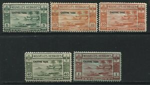 New Hebrides 1938 Postage Dues to 1 franc mint o.g. hinged