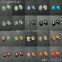 Natural Mixed Gemstone Oval Cabochon CAB Flatback Reiki Chakra Beads 22mm x 30mm