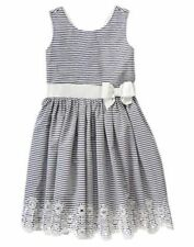 NWT Gymboree Marina Party Striped Eyelet Dress 5 7 easter wedding Girls
