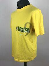Ronaldo #9 Brazil NIKE Fan Football T-Shirt Men's Size L Soccer Cotton Jersey