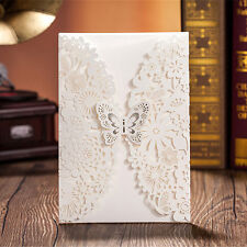 1 Sample Personalised Wedding Evening Invitations Butterfly Laser Cut & Envelope