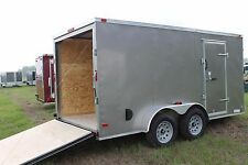 6x12 Enclosed Trailer Cargo Tandem 7 Dual V-Nose 14 Lawn 10 Motorcycle Box 2017