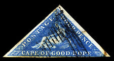 Cape of Good Hope. 1853. 4d. Bright Blue. SC# 2, SG 4(?). VF Used. SCV $170 -s