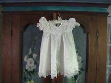 """GIRLS 2T """"JO LENE"""" WHITE SATEEN LOOKING W/ LACE DRESS #133"""