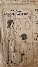 Rare **Antique Sewing Pattern- Child's Dress #3437- 1920's