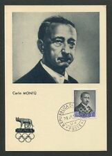 SAN MARINO MK 1959 OLYMPIA MONTU MAXIMUMKARTE CARTE MAXIMUM CARD MC CM 60661