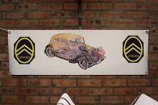 Citroen Trazione Avant grande lavoro in pvc Negozio Banner Garage mostra Banner