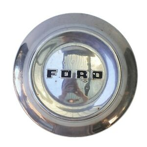 "Vintage Ford 1952 1953 1954 10 1/2"" Customline Ranch Hubcap Hub Cap Wheelcover"