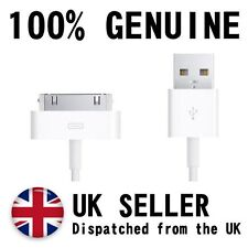 Apple iPhone 4 4s 30 Pin Cargador Cable de alimentación probado 100% Genuino Original