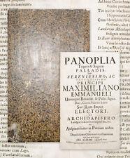 1715 Max Emanuel Festbuch Universität Ingolstadt Panoplia togatae & sagatae...