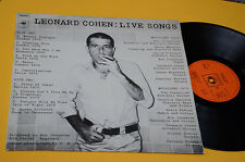 LEONARD COHEN LP LIVE SONGS 1°ST ORIG OLANDA 1973 EX CBS ORANGE LAMINATED COVER