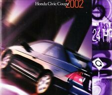 2002 02 Honda Civic Coupe  original sales brochure Mint