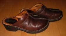 Born Wms Cute Brown Leather Mules 7