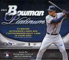 2011 BOWMAN PLATINUM HOBBY BASEBALL BOX (3 AUTOS,HARPER?) BUY 2 OR MORE SAVE $5