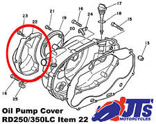 Genuine Yamaha Rd250lc Rd350lc Oil Pump Cover 4l0-15416-00