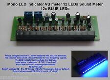 Mono indicatore LED vu meter LED 12 Misuratore DEL SUONO - 12x LED BLU-hk1520pb