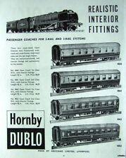 1962 Hornby 'DUBLO' ADVERT 2 & 3-Rail Passenger Coaches Nos.4060-3 - Original AD