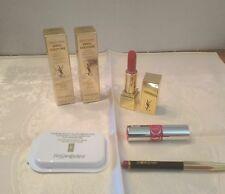 6-YVES ST LAURENT LOT -Mascaras, Lipstick, Lip gloss & Touche Eclat Blur-NEW!