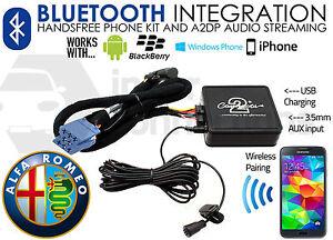 Alfa Romeo 147 Bluetooth streaming adapter handsfree calls CTAARBT001 AUX in car