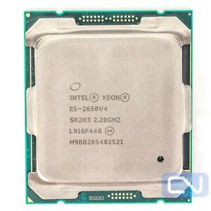 Intel Xeon E5-2650 v4 2.2GHz 12 Core 30MB 9.6GT/s SR2N3 B Grade CPU Processor