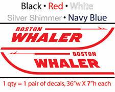 """2 36""""w x 7""""h BOSTON WHALER Decal stickers set, $27.99 FREE SHIP"""