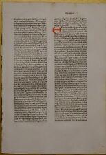 Original Blatt aus der KOBERGER BIBEL 1475, Nürnberg, rubriziert Inkunabel 1