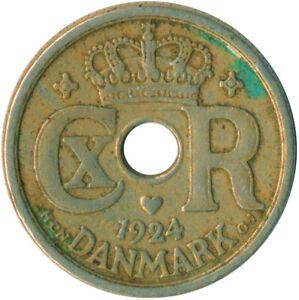 Coin / Denmark / 10 ORE / 1924 /  #WT4934