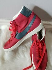 Nike Blazer '77 High Tops Red Suede Leather 615898-641 Uk 7 Eur 41 Unisex Sports
