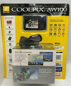 Nikon Coolpix AW100 16.0 MP Digital Camera MEGA Pack - HD, GPS, 5X ZOOM  ORANGE