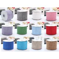 10M Burlap Hessian Jute Bow Tape Art Craft Wrap Rustic Ribbon Tirm DIY Gift