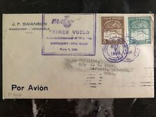 1930 Maracaibo Venezuela First Flight Registered cover FFC to New York USA