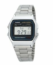 New GENUINE CASIO MENS WATCH Vintage Retro 80s A158WA-1JF Silver Stainless Steel