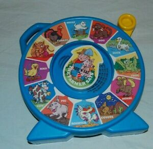 1989 Mattel See N' Say And the Farmer Says Animal Sounds Vintage Toy Blue WORKS!
