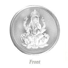 999 Silver Coin God Ganesha for Diwali Puja Spiritual Worship Wealth Luck