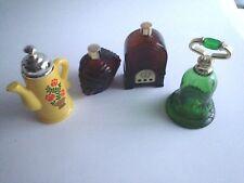 4 Lot Vtg Avon Collectible Empty Bottles Decanters Bell Teapot Jukebox Indian