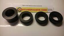 Kawasaki ZX6R ZX6 2003- 2004 Captive wheel spacers. Full wheel set. Black