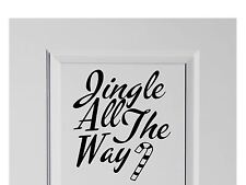 Jingle All The Way Navidad calcomanía Decoración Del Hogar Navidad 200mm