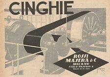 Z0012 Cinghie Rossi Masera - Milano - Pubblicità del 1926 - Advertising