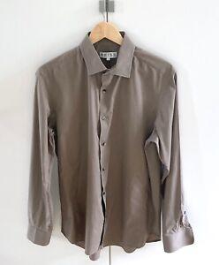Reiss Brown Shirt, Single Cuff Size XL