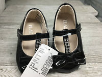 Place Black Patten Mary Jane Size 3 to 6 Month Touch Fastener Dress Shoe NEW